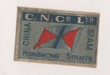 OLD match box label SIAM Thailand flag CHINA or JAPAN